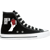 Tênis Green Day All Star Converse Cano Alto Lindissímo !