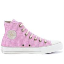 Tênis Converse All Star Ct As Textile Hi Rosa Antigo Creme C