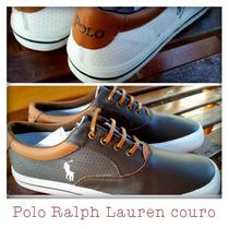Sapatenis Tenis Polo Ralph Lauren De Couro-original!