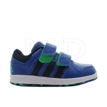 Tênis Masculino Infantil Adidas Trainer Azul Com Velcro