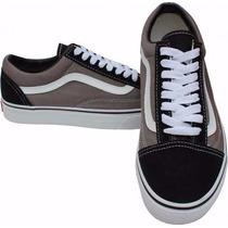 Tênis Vans Old Skool Original Na Caixa! Agora Preto C/ Cinza