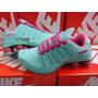 Nike Shox Feminino Rosa Com Verde Excelente Qualidade
