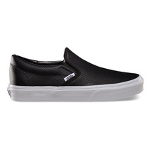 Vans Slip-on Couro Perfurado Preto E Braco N* 9/6-41 Supply