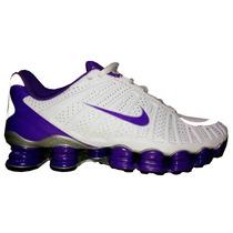 Tênis Nike-tlx-12-molas -branco-e-roxo