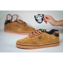 Tenis Hocks Flat Lite Tan Natural Skate Premium Sneakers