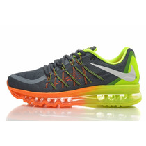 Nike Airmax Cinza E Verde Lançamento 2015, Confortavel Caixa