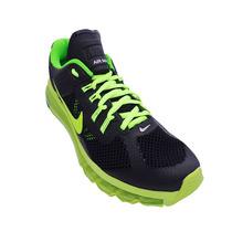 Tênis Nike Air Max 2013 Preto E Verde Limão - Frete Gratis