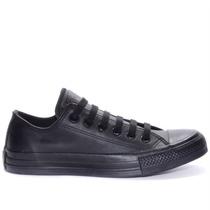 Tênis Converse All Star Ct As Monochrome Leather Ox Preto Ct