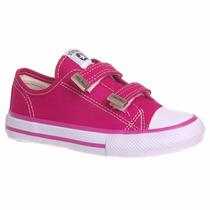 Tênis Infantil Feminino Starzinho Com Velcro Pink
