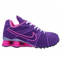 Tênis Feminino Barato Nike Shox Turbo Roxo E Rosa Original