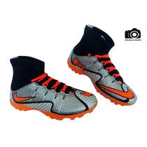 Chuteira Nike Futebol Society. Cano Longo