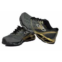 Tênis Olympikus Destiny Chumbo Dourado - Galluzzi Calçados