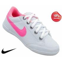 Tênis Sapatênis Feminino Infantil Nike Branco E Rosa !!!