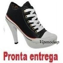 Tênis Cano Alto Sneaker Feminino 34 35 36 37 38 39 Bota Roxo