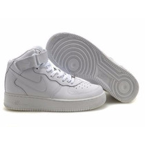 Tenis Nike Air Force Cano Alto Masculino Swag Branca