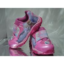Tênis Frozen Rosa Velcro Infantil Feminino - Cod 333
