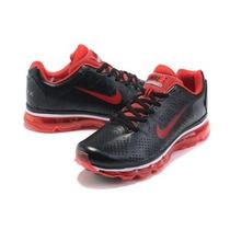 Nike Air Max 2011 Vermelho Com Preto 100% Original