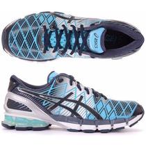 Tênis Asics Kinsei 5 Gel Running Masculino Azul Claro E Esc