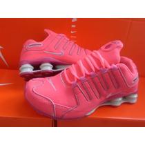 Tênis Nike Shox Feminino Rosa Pink Roque Excelente Qualidade