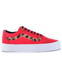 Tênis Vans Old Skool Side Stripe Red Leopard Vn-0zdffl3