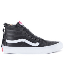 Tênis Vans Sk8 Hi Slim Zip Leather Black Leopard Vn-0xh8du1