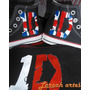 Tênis # One Direction Converse All Star Pintado À Mão Longo