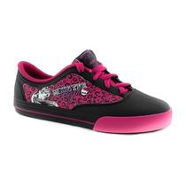 Tênis Infantil Monster High Com Cadarço Com Skate De Brinde