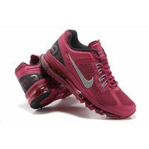 Nike Air Max 2014 Uva/lilas Feminino 100% Original P.entreg