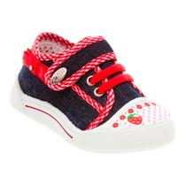 Tênis Infantil Klin Velcro Jeans Criança Laço Lindo 942065