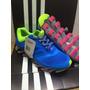 Novo Adidas Springblade Cinza Com Azul Bebe Lançamento