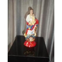(sergioschw) Imagem Nossa Senhora Do Rosário Terracota 16 Cm