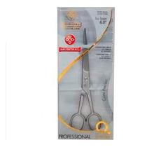 Tesoura Inox P/ Cabelo Fio Liso Laser 6 Bronze-bc341 Mundial