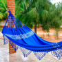 Rede De Dormir Casal Pernambucana Azul