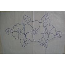 Kit 5 Tecidos - Algodão Cru - Agulha Mágica - Tema Flores