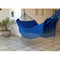 Rede De Dormir - Descansar - Casal - Gabardine - Azul