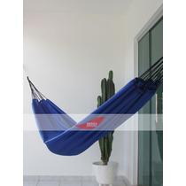 Rede De Dormir Descanso Nylon Praia Cor Azul