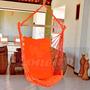 Cadeira Rede Para Balanço De Descanso Tecido Cor Laranja