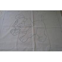 Kit 5 Tecidos - Algodão Cru - Agulha Mágica - Tema Animais