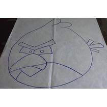 Algodão Cru Com Risco Para Agulha Mágica - Angry Birds - Red