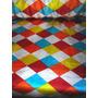 Tecido Cetim Poá E Florais - 12 M X 1.50 Cm De Largura