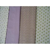 Kit 7 Tecidos Estampados Cor Lilás P/ Patchwork Frete Grátis