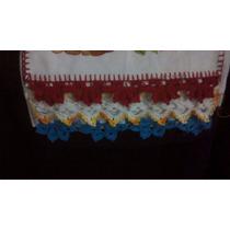 Pano De Prato Com Bico De Crochê (guardanapo)