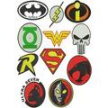 Super Heróis - 34 Matrizes De Bordados Comput. - Via Email