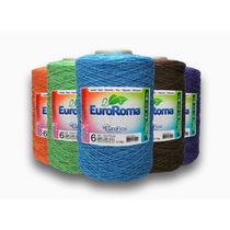 Barbantes Euroroma 2kg Todas As Cores Fio6 Crú E Branco 6e8