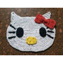 Knickknack - Toalhinha Crochê Barbante Hello Kitty Pequeno