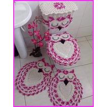 Jogo De Banheiro Em Barbante 5 Peças Muito Lindas!!!