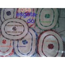 (promoção)jogo De Banheiro C/3pçs Barbante Cru 100% Algodão
