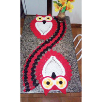 Trilho,caminho,centro,toalha De Mesa Crochê Coruja
