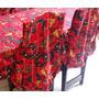 Kit 4 Capas Luxo Para Encosto De Cadeira + Toalha Mesa