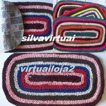 (kit Com 05) Tapete De Malha Costurado Colorido, Quarto Sala